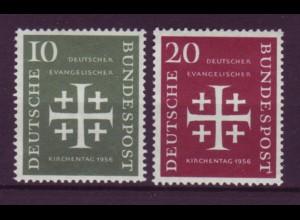 Bund 235-236 Deutscher Evangelischer Kirchentag 10 Pf + 20 Pf postfrisch