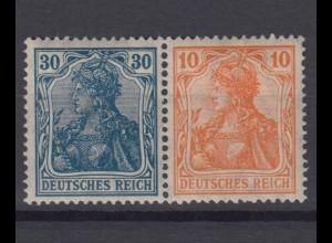 Deutsches Reich 144/141 Zusammendruck W 15 Germania 30/10 Pf postfrisch