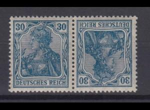 Deutsches Reich 144/141 Zusammendruck K 2 Germania 30 Pf postfrisch