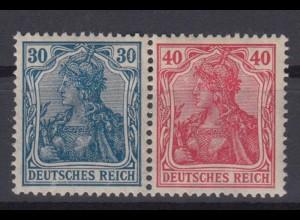 Deutsches Reich 144/145 Zusammendruck W 16 Germania 30/40 Pf postfrisch