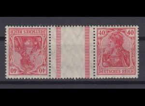 Deutsches Reich 145/145 Zusammendruck KZ 5 Germania 40 Pf postfrisch