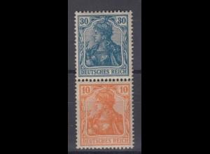 Deutsches Reich 144/141 Zusammendruck S 17 Germania 30/10 Pf postfrisch