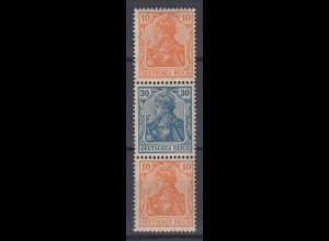 Deutsches Reich 141/144/141 Zusammendruck S 16 Germania 10/30/10 Pf postfrisch
