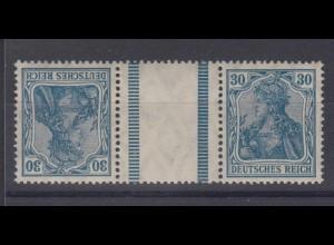 Deutsches Reich 144/144 Zusammendruck KZ 3 Germania 30 Pf postfrisch