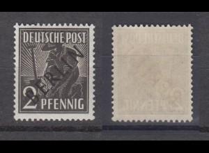 Berlin 1 Schwarzaufdruck 2 Pf postfrisch