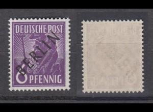 Berlin 2 Schwarzaufdruck 6 Pf postfrisch