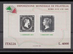 Vignette Italien Esrosiozione Mondiale Di Filatelia 4000 Lire 1985