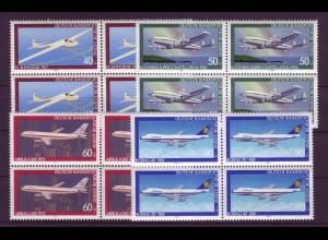 Bund 1040-1043 4er Block Jugend Luftfahrt 40+20, 50+25, 60+ 30 90+ 45 Pf **