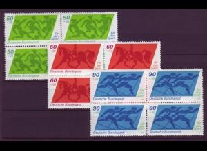 Bund 1046-1048 4er Block Sporthilfe 50+25 Pf, 60+ 30 Pf, 90+ 45 Pf postfrisch