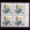 Bund 1059 4er Block Gefährdete Ackerwildkräuter 40+ 20 Pf postfrisch