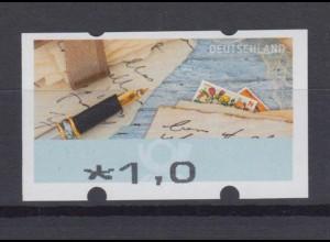 Bund ATM 2017 Mi.8 Fehldruck 1,00 € ohne Nr. verstümmelter Aufdruck ** /14