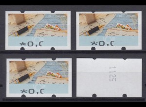 Bund ATM 2017 Mi.8 Fehldruck 0,0- € ohne Nr. verstümmelter Aufdruck ** /25