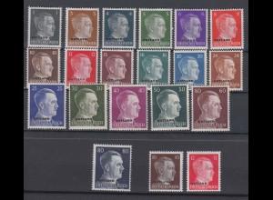 Ostland 1-20 Adolf Hitler mit Bdr.-Aufdruck Ostland 20 Werte postfrisch