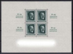 Deutsches Reich Block 9 Kulturförderung 6 Pf postfrisch /2