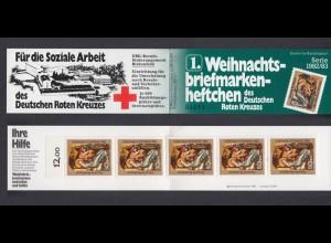 Bund Rotes Kreuz Weihnachten Markenheftchen 5x 1161 80+ 40 Pf 1982/83 postfrisch