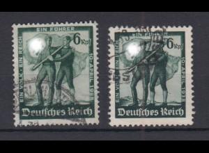 Deutsches Reich 662-663 Volksabstimmung in Österreich 6 Pf gestempelt /2