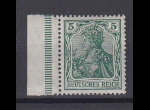 Deutsches Reich 85 Ia mit Seitenrand links Germania Friedensdruck 5 Pf **