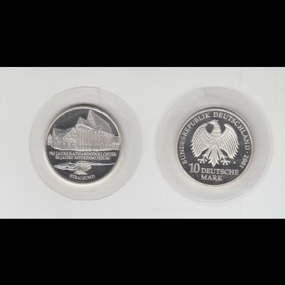 Silbermünze 10 DM 2001 Stralsund A stempelglanz