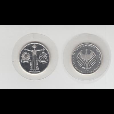 Silbermünze 10 DM 2000 EXPO 2000 Prägeanstalt A stempelglanz