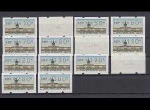 Berlin ATM 1 Versandstellensatz TS1 14 Werte postfrisch