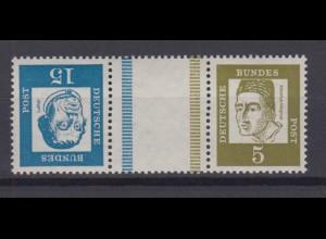 Bund 351y,347y Zusammendruck KZ 2 Bedeutende Deutsche 15 Pf + 5 Pf **