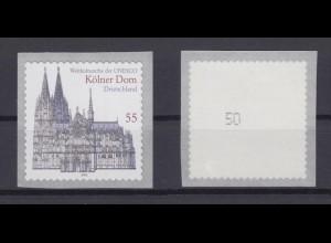 Bund 2330 SELBSTKLEBEND RM mit gerader Nummer Kölner Dom 55 Cent postfrisch