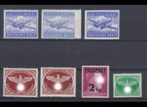 Deutsches Reich Feldpost 1 A, B, U, 2 A+B, 3, 4 postfrisch /2