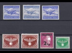 Deutsches Reich Feldpost 1 A, B, U, 2 A+B, 3, 4 postfrisch /3