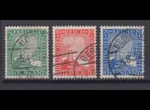 Deutsches Reich 372-374 Rheinland 1000 Jahre 5 Pf, 10 Pf, 20 Pf gestempelt /1