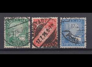 Deutsches Reich 372-374 Rheinland 1000 Jahre 5 Pf, 10 Pf, 20 Pf gestempelt /2