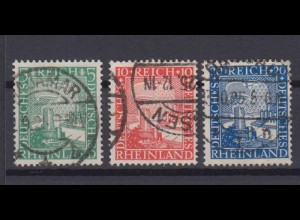 Deutsches Reich 372-374 Rheinland 1000 Jahre 5 Pf, 10 Pf, 20 Pf gestempelt /3