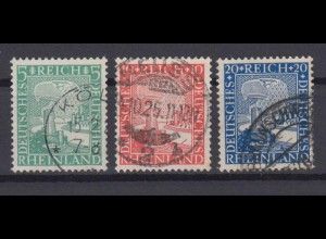 Deutsches Reich 372-374 Rheinland 1000 Jahre 5 Pf, 10 Pf, 20 Pf gestempelt /4