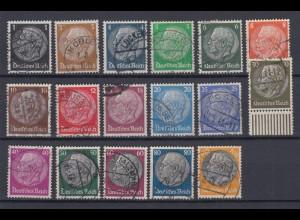 Deutsches Reich 512-528 Paul von Hindenburg im Medaillon 17 Werte gestempelt /2