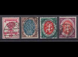 Deutsches Reich 107-110 Nationalversammlung 10, 15, 25 Pf, 30 Pf gestempelt /1