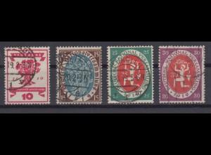 Deutsches Reich 107-110 Nationalversammlung 10, 15, 25 Pf, 30 Pf gestempelt /2