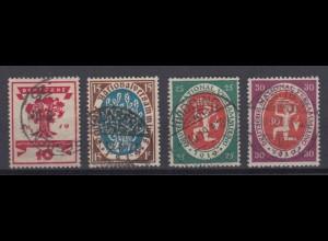 Deutsches Reich 107-110 Nationalversammlung 10, 15, 25 Pf, 30 Pf gestempelt /3