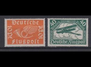 Deutsches Reich 111-112 Posthorn und Doppeldecker 10 Pf + 40 Pf postfrisch