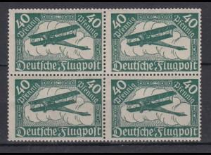 Deutsches Reich 112 4er Block Posthorn und Doppeldecker 40 Pf postfrisch