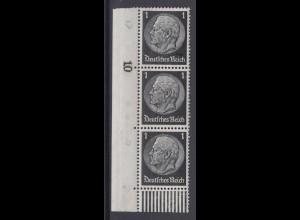 Deutsches Reich 512 Eckrand links unten 3er Streifen Paul von Hindenburg 1 Pf **