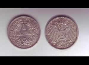 Silbermünze Kaiserreich 1 Mark 1910 F Jäger Nr. 17 /26