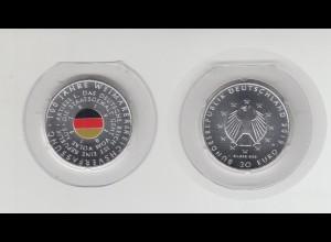 Silbermünze 20 Euro 2019 100 Jahre Weimarer Reichsverfassung teilkoloriert Stgl.