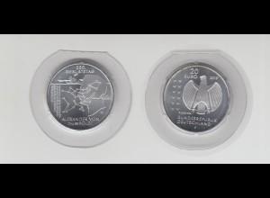 Silbermünze 20 Euro 2019 250. Geburtstag Alexander von Humboldt stempelglanz