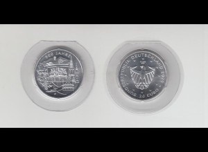 Silbermünze 20 Euro 2020 900 Jahre Freiburg stempelglanz