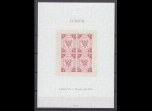 Vignette Lübeck Neudruck 1978 Marke Nr. 4 aus dem Jahre 1859