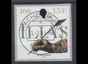 Bund 2251 SELBSTKLEBEND RM Johann H. Voß 300 Pf/1,53 C gestempelt Hachenburg