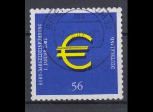 Bund 2236 SELBSTKLEBEND Einführung der Euro-Münzen 56 Cent gestempelt