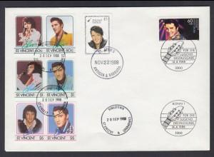 Bund Jubiläumsbrief 1998 Elvis Presley gestempelt Bonn St. Jones, st.Vincent