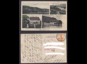 Ansichtskarte Mehrbildkarte Niederweiler Gasthaus zur Krone Hofgut J. Jehle 1916