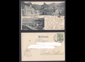 Ansichtskarte Atzenbach Gasthaus zum Schützen gestempelt 1904