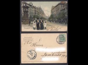Ansichtskarte Frankfurt am Main gestempelt Frankfurt + Lambrecht 1902